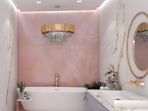 łazienka onyx różowy - zdjęcie od Forma Studio Marta Graczyk-Szuta
