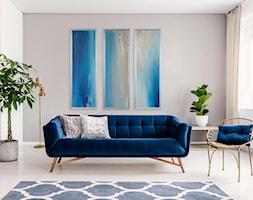 Obraz+Abstrakcyjny+-+tryptyk+niebieski+-+zdj%C4%99cie+od+Picchio+Muratore