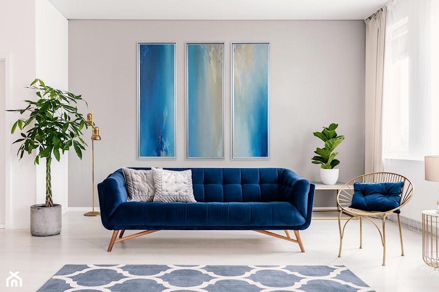 Aranżacje wnętrz - Salon: Obraz Abstrakcyjny - tryptyk niebieski - Picchio Muratore. Przeglądaj, dodawaj i zapisuj najlepsze zdjęcia, pomysły i inspiracje designerskie. W bazie mamy już prawie milion fotografii!