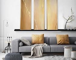 Obraz+Abstrakcyjny+-+tryptyk+z%C5%82oty+-+zdj%C4%99cie+od+Picchio+Muratore