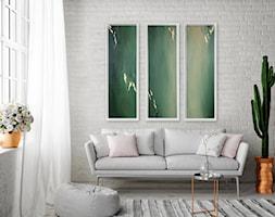 Obraz+Abstrakcyjny+-+tryptyk+zielony+-+zdj%C4%99cie+od+Picchio+Muratore