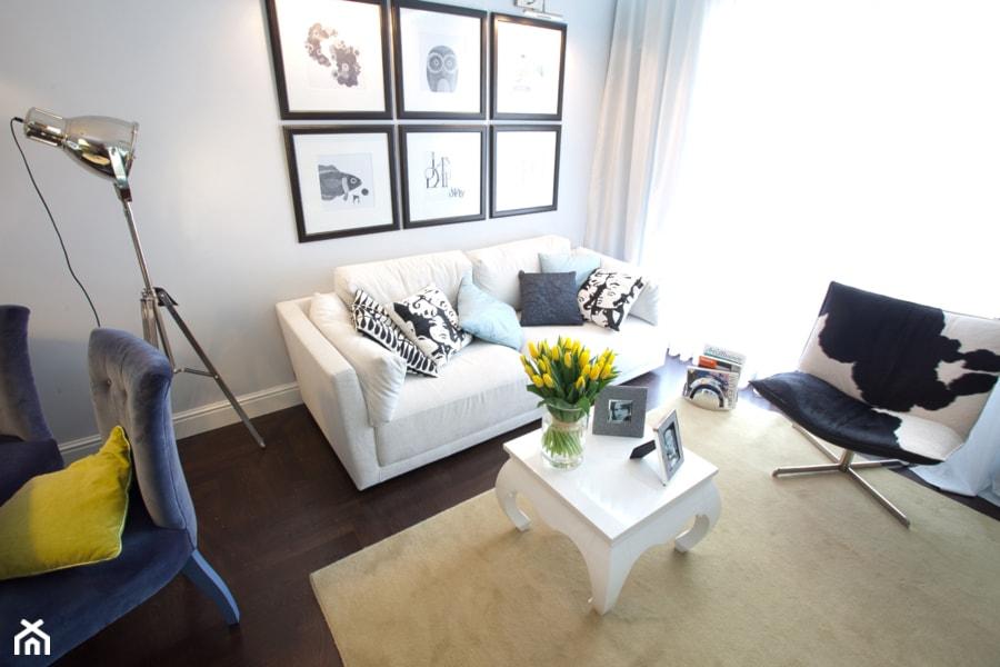 KLASYKA - Średni szary salon z jadalnią, styl klasyczny - zdjęcie od SAFRANOW - Homebook