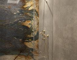 ZŁOTE - Mała średnia szara łazienka w domu jednorodzinnym bez okna, styl art deco - zdjęcie od SAFRANOW