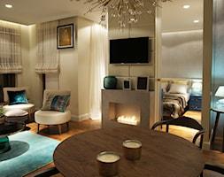 ZŁOTE - Średni biały salon, styl art deco - zdjęcie od SAFRANOW