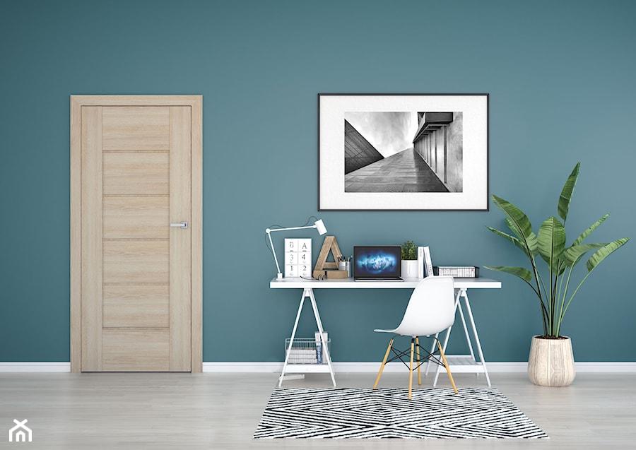 Auri - Średnie turkusowe biuro kącik do pracy w pokoju, styl eklektyczny - zdjęcie od DRE