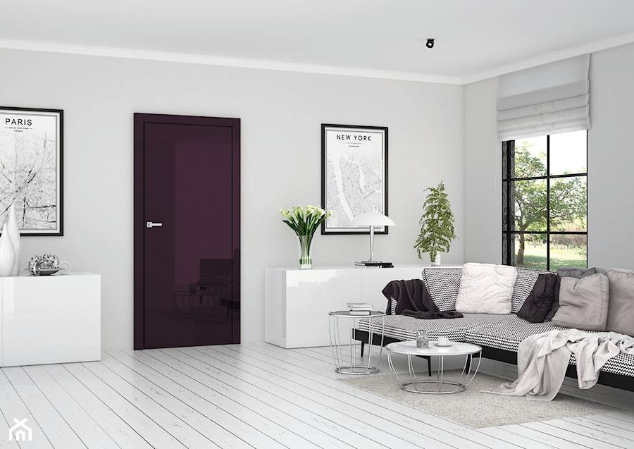 Silia - Duży szary salon, styl eklektyczny - zdjęcie od DRE