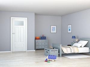 Nestor - Duży szary pokój dziecka dla chłopca dla malucha dla nastolatka, styl minimalistyczny - zdjęcie od DRE