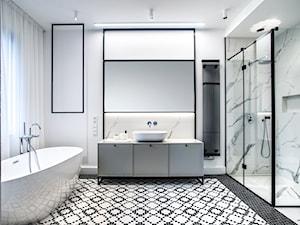 Łazienka czarno-biała - zdjęcie od SOUL INTERIORS