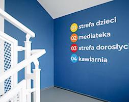 projekt wnętrz biblioteki-mediateki - klatka schodowa - zdjęcie od ZW PRACOWNIA PROJEKTOWA - Homebook