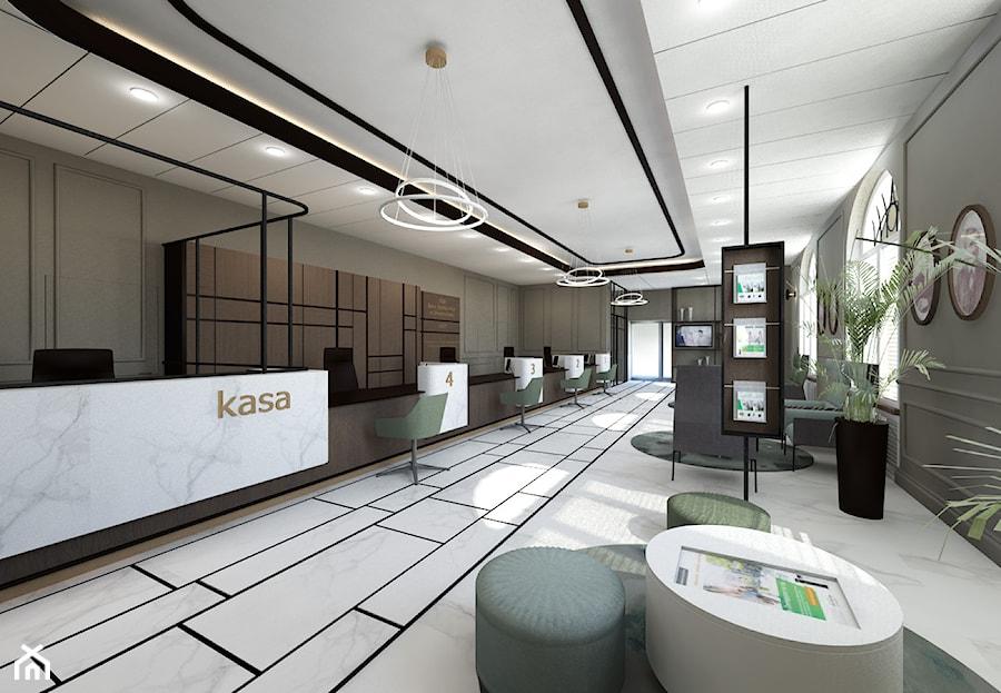 projekt wnętrz banku - sala obsługi klienta - zdjęcie od ZW PRACOWNIA PROJEKTOWA