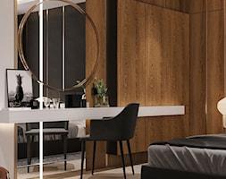 Średnia biała czarna sypialnia małżeńska, styl nowoczesny - zdjęcie od Sublime studio - Homebook