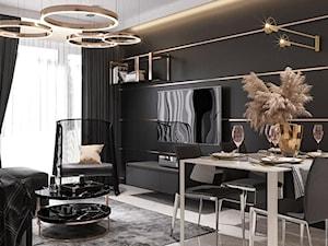 Nowoczesny salon w apartamentowcu