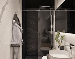 Mała łazienka w bloku w domu jednorodzinnym bez okna, styl minimalistyczny - zdjęcie od Sublime studio - Homebook