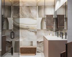 Średnia szara łazienka w bloku w domu jednorodzinnym bez okna, styl minimalistyczny - zdjęcie od Sublime studio - Homebook