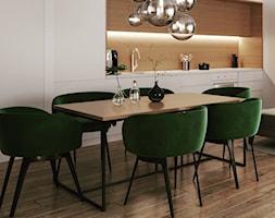 Duża otwarta szara kuchnia jednorzędowa w aneksie, styl nowoczesny - zdjęcie od Sublime studio - Homebook