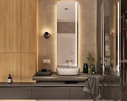 Średnia czarna łazienka w bloku w domu jednorodzinnym bez okna, styl minimalistyczny - zdjęcie od Sublime studio - Homebook