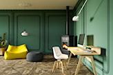 salon ze sztukaterią, styl vintage