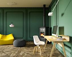 Energy - Mały zielony salon, styl vintage - zdjęcie od MARBET DESIGN