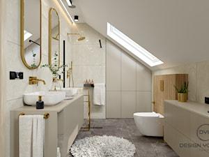 Salon kąpielowy na poddaszu w domu pod Olsztynem