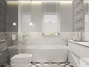 Srebna łazienka glamour