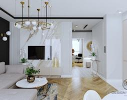 Mieszkanie dla dojrzałej pary w Siedlcach - Salon, styl glamour - zdjęcie od DESIGNYOURHOME - Homebook