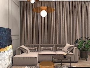 ekskluzywny apartament w Warszawie z nutą ognistych barw