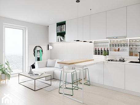 Aranżacje wnętrz - Salon: GDAŃSK 28m2 - Salon, styl minimalistyczny - JD Architects. Przeglądaj, dodawaj i zapisuj najlepsze zdjęcia, pomysły i inspiracje designerskie. W bazie mamy już prawie milion fotografii!