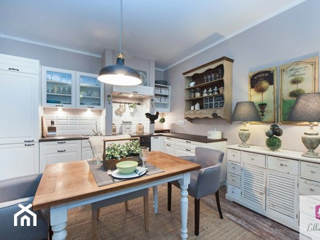 Aranżacje wnętrz - Kuchnia: Projekt wnętrza kuchni mieszkania w stylu prowansalskim - Lilla Home. Przeglądaj, dodawaj i zapisuj najlepsze zdjęcia, pomysły i inspiracje designerskie. W bazie mamy już prawie milion fotografii!