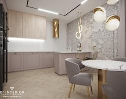 Projekt salonu z aneksem kuchenym - zdjęcie od D ' INTERIOR. Studio Wnętrz - Homebook