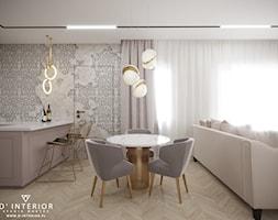 Salon z aneksem kuchennym we Wrocławiu - zdjęcie od D ' INTERIOR. Studio Wnętrz - Homebook