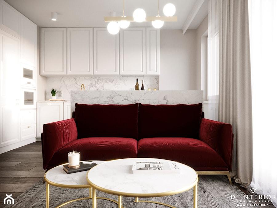Modern In Classic - Salon, styl glamour - zdjęcie od D ' INTERIOR. Studio Wnętrz