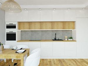 Mieszkanie na osiedlu Spectrum - Średnia otwarta szara kuchnia jednorzędowa w aneksie, styl skandynawski - zdjęcie od D ' INTERIOR. Studio Wnętrz