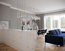 Projekt salonu w stylu modern classic - zdjęcie od D ' INTERIOR. Studio Wnętrz - Homebook