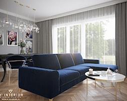 Projekt strefy dziennej w Warszawie - zdjęcie od D ' INTERIOR. Studio Wnętrz - Homebook