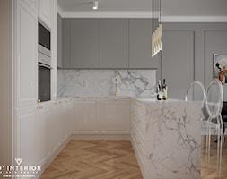 Projekt aneksu kuchennego ze frezowanymi frontami - zdjęcie od D ' INTERIOR. Studio Wnętrz - Homebook