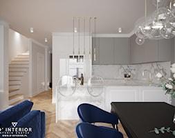 Projekt salonu z aneksem kuchennym - zdjęcie od D ' INTERIOR. Studio Wnętrz - Homebook