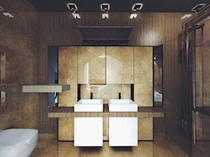 Apartament Frogner   Oslo   Norwegia - Średnia brązowa łazienka w bloku w domu jednorodzinnym bez okna, styl nowoczesny - zdjęcie od Atelier Chwat