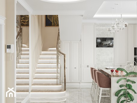 Aranżacje wnętrz - Schody: Projekt mieszkania 130m2 - Schody, styl klasyczny - SHAFIEVA DESIGN. Przeglądaj, dodawaj i zapisuj najlepsze zdjęcia, pomysły i inspiracje designerskie. W bazie mamy już prawie milion fotografii!
