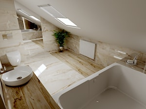 Projekt onyx - łazienka na poddaszu