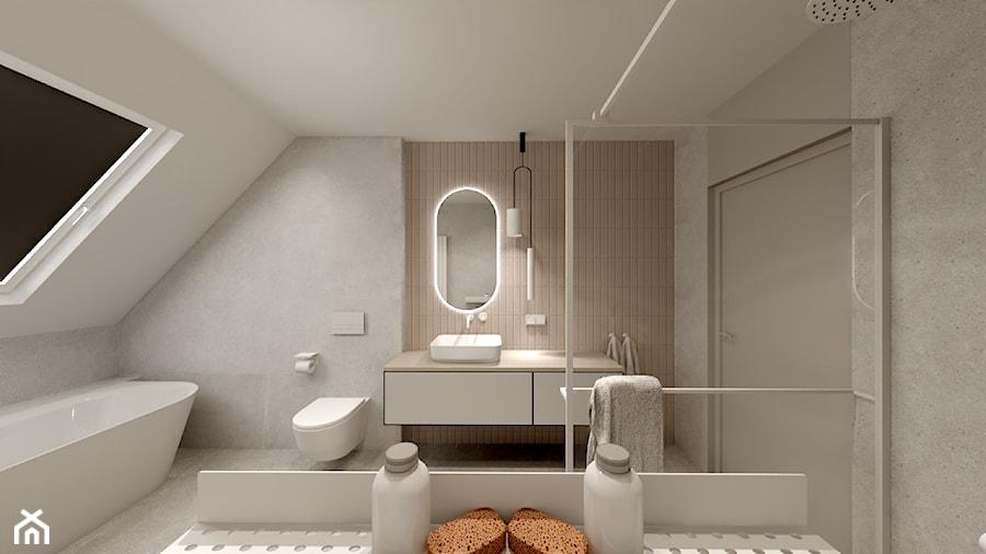 Projekt Cappucino - Łazienka, styl minimalistyczny - zdjęcie od Wabud Sp z o.o.