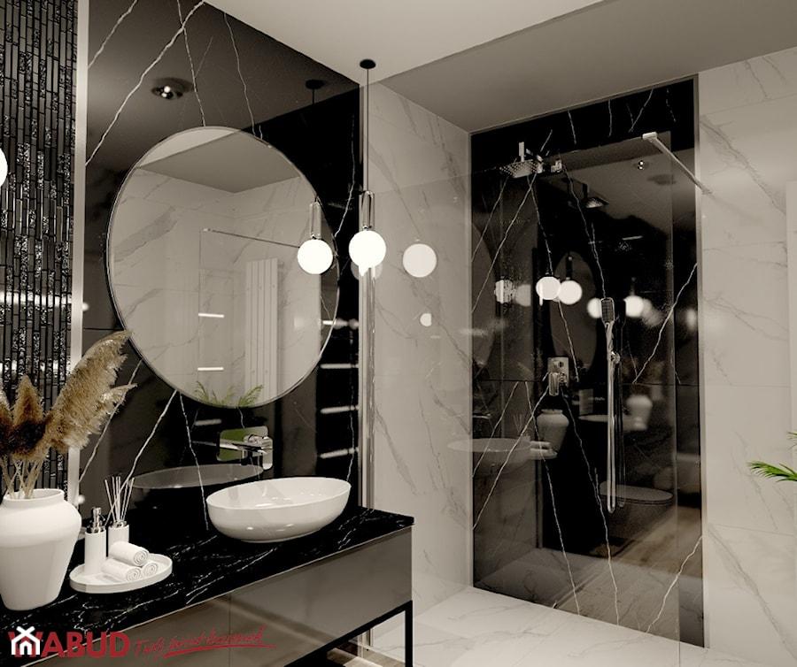 Projekt glamour z pięknym lustrem - Łazienka, styl glamour - zdjęcie od Wabud Sp z o.o.