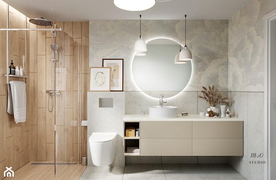 Łazienka, w której buja się w obłokach - zdjęcie od m2o studio