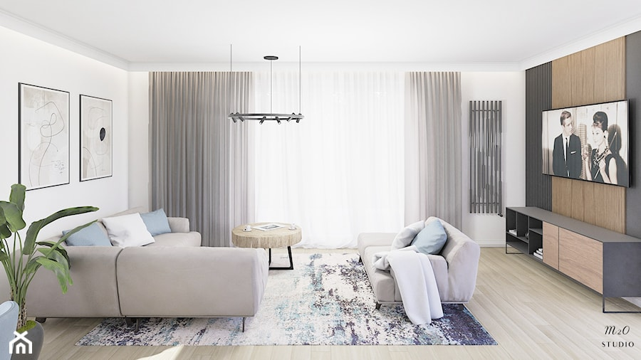 Mieszkanie, Gdańsk, Nowa Letnica - Salon, styl nowoczesny - zdjęcie od m2o studio