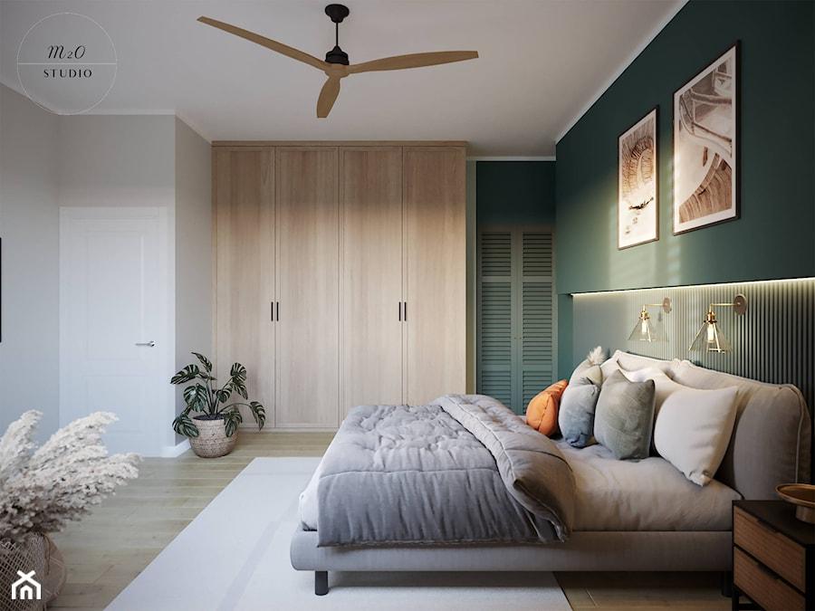 Sypialnia w kolorze secret garden - zdjęcie od m2o studio