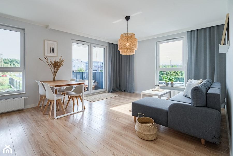 Mieszkanie, Gdańsk, Osowa - Salon, styl skandynawski - zdjęcie od m2o studio