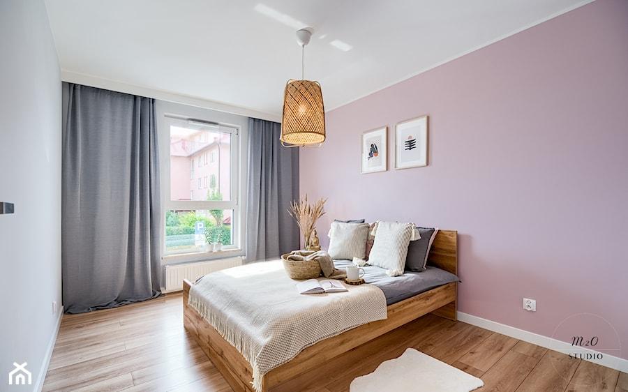 Mieszkanie, Gdańsk, Osowa - Sypialnia, styl skandynawski - zdjęcie od m2o studio