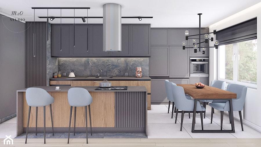 Mieszkanie, Gdańsk, Nowa Letnica - Kuchnia, styl nowoczesny - zdjęcie od m2o studio