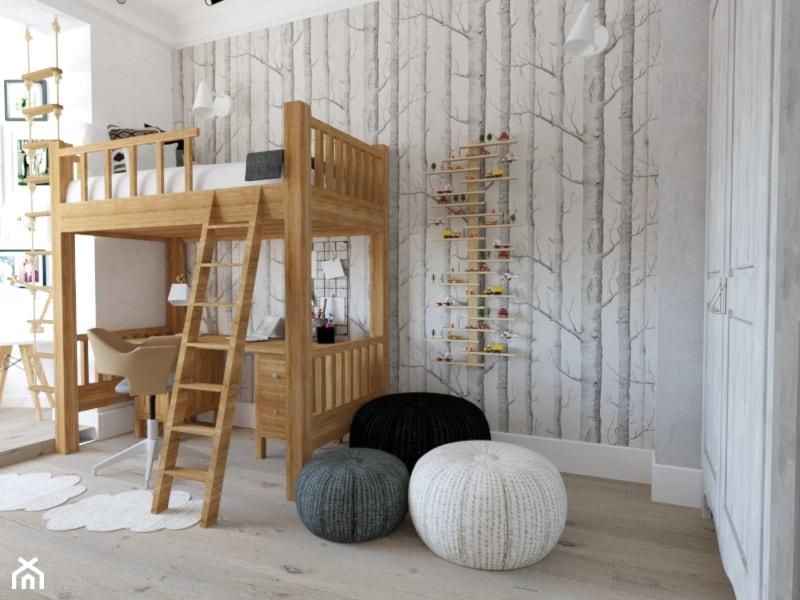 Projekt pokoju dla chłopca - Kamienica Świnoujście - Pokój dziecka, styl skandynawski - zdjęcie od MVision Studio Projektowe - Homebook