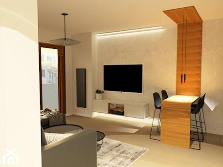 Aranżacje wnętrz - Salon: Mieszkanie w Świnoujściu - Duży szary salon z jadalnią, styl minimalistyczny - MVision Studio Projektowe. Przeglądaj, dodawaj i zapisuj najlepsze zdjęcia, pomysły i inspiracje designerskie. W bazie mamy już prawie milion fotografii!