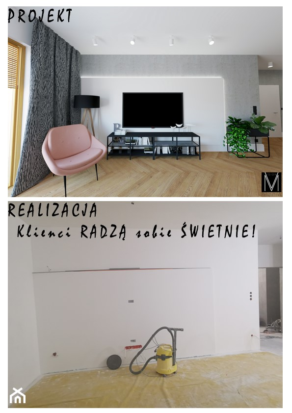 Industry apartment Świnoujście - Salon, styl nowoczesny - zdjęcie od MVision Studio Projektowe